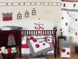 Sweet Jojo Designs Little Ladybug 9-piece Crib Bedding Set