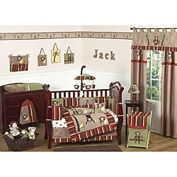 Sweet Jojo Designs Monkey 9-piece Crib Bedding Set