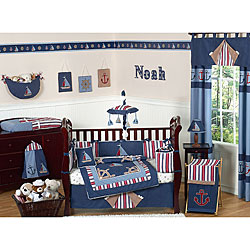 Sweet Jojo Designs Nautical 9-piece Crib Bedding Set - Thumbnail 0