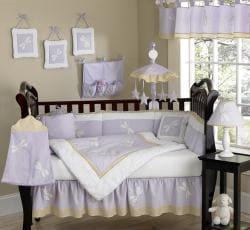 Sweet Jojo Designs Purple Dragonfly 9-piece Crib Bedding Set