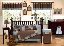 Sweet Jojo Designs Soho Blue 9-piece Crib Bedding Set