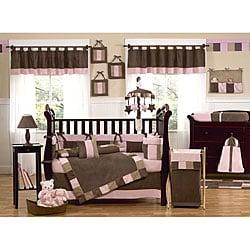 Sweet Jojo Designs Soho Pink 9-piece Crib Bedding Set