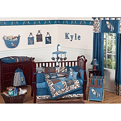 Sweet Jojo Designs Blue Surf 9-piece Crib Bedding Set
