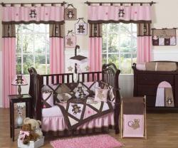 Sweet Jojo Designs Pink Teddy Bear 9-piece Crib Bedding Set - Thumbnail 1