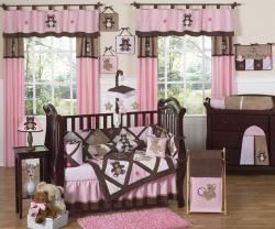 Sweet Jojo Designs Pink Teddy Bear 9-piece Crib Bedding Set - Thumbnail 2