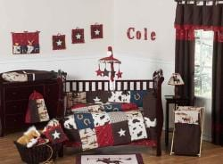 Sweet Jojo Designs Cowboy 9-piece Crib Bedding Set - Thumbnail 1