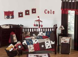 Sweet Jojo Designs Cowboy 9-piece Crib Bedding Set - Thumbnail 2