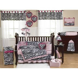 Zebra 9-piece Crib Bedding Set