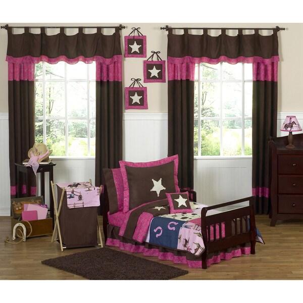 Sweet JoJo Designs Western Horse Cowgirl 5-piece Toddler Girl's Bedding Set