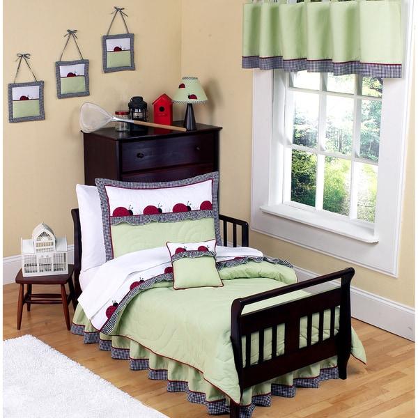 Sweet JoJo Designs Ladybug Parade 5-piece Toddler Girl's Bedding Set