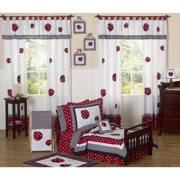 Sweet JoJo Designs Red/ White Polka Dot Little Ladybug 5-piece Toddler Girl's Bedding Set