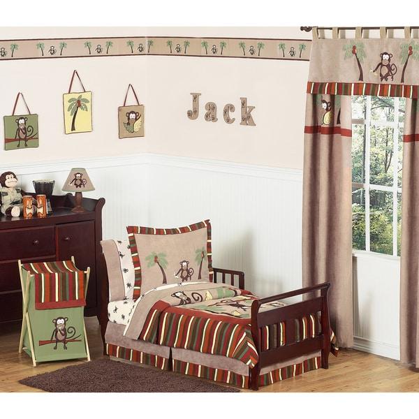 Sweet JoJo Designs Monkey 5-piece Toddler Boy's Bedding Set