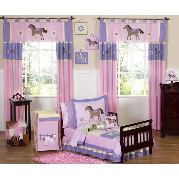 Sweet JoJo Designs Pretty Pony Horse 5-piece Toddler Girl's Bedding Set