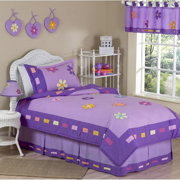Sweet JoJo Designs Danielle's Daisies 4-piece Girl's Twin-size Bedding Set