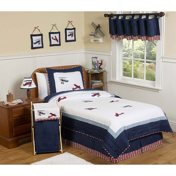 Sweet JoJo Designs Red/ White/ Blue 4-piece Twin-size Comforter Set