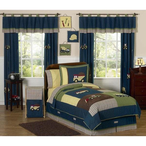 Sweet JoJo Designs Blue 4-piece Twin-size  Comforter Set