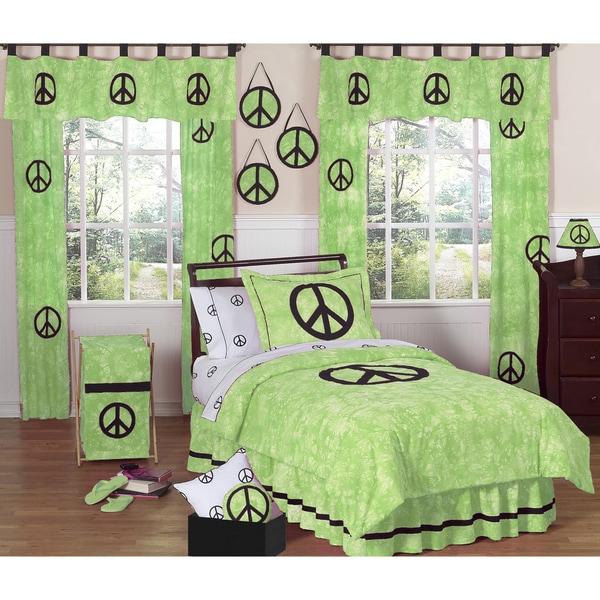 Sweet JoJo Designs Lime Green 4-piece Twin-size Comforter Set