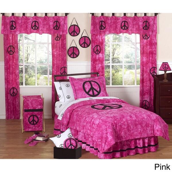 Sweet JoJo Designs Peace Sign Comforter Set