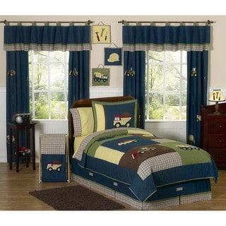 Sweet JoJo Designs Construction Zone 3-piece Boys Full/ Queen-size Quilt Set