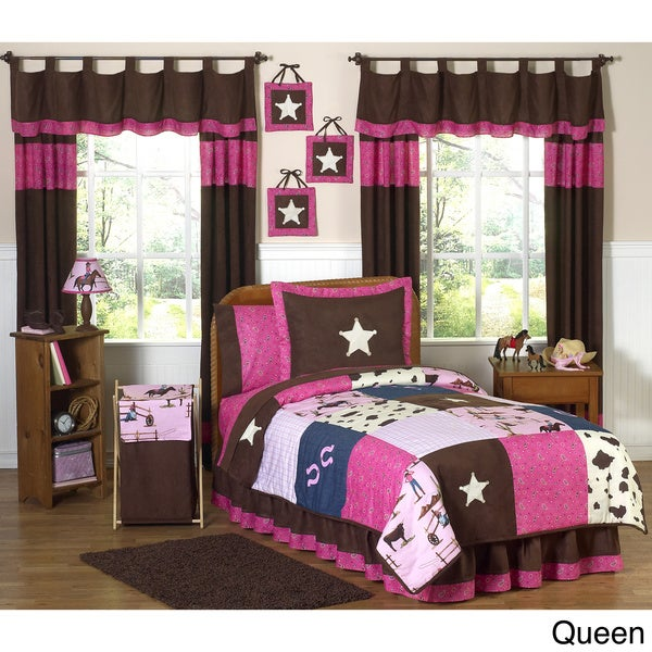 Sweet JoJo Designs Cowgirl Girl's Quilt Set