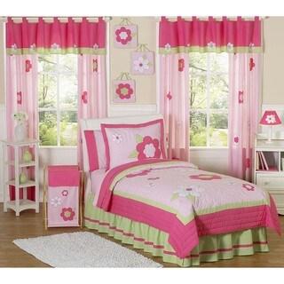 Sweet JoJo Designs Flower 3-piece Girl Queen-size Quilt Set