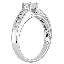 Miadora 14k White Gold 1/2ct TDW Diamond Engagement Ring (G-H, I1-I2) - Thumbnail 1
