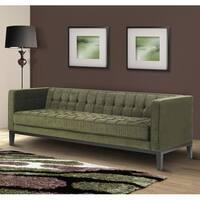 Green Chenille/ Hardwood Sofa