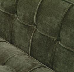 Green Chenille/ Hardwood Chair - Thumbnail 2