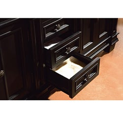 OVE Decors 60-inch Eliza Double Sink Bathroom Vanity with Granite Top