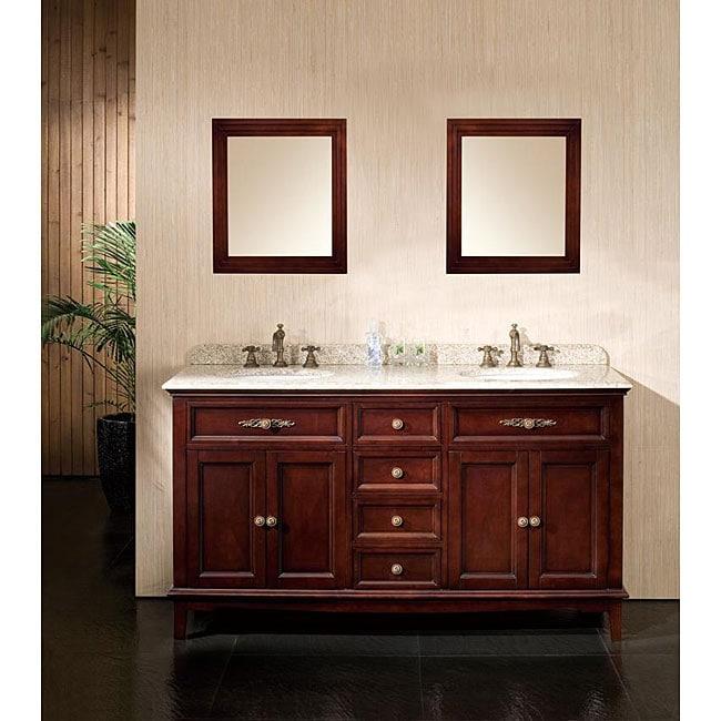 OVE Decors Duncan 60-inch Double Sink Vanity with Granite Top