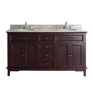 Ove Decors Duncan 60 Inch Double Sink Vanity With Granite Top