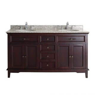 OVE Decors Duncan 60 Inch Double Sink Vanity With Granite Top
