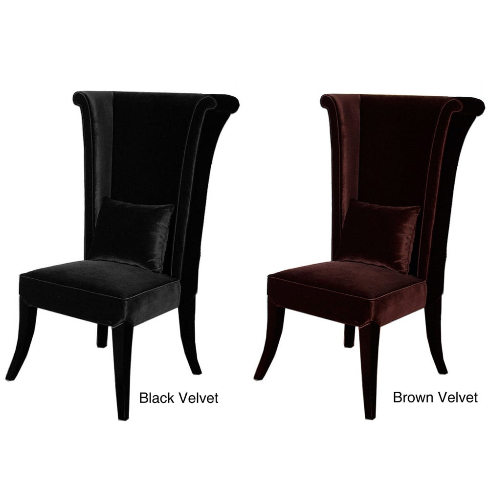 Velvet high back chair free shipping today overstock for Dining room high chairs