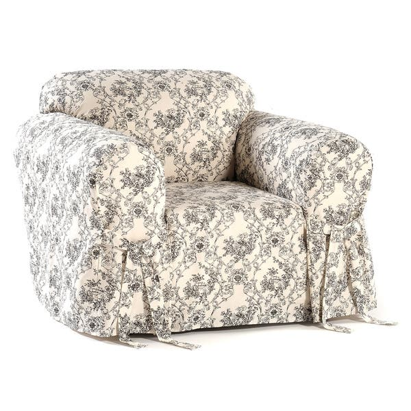 Enjoyable Shop Classic Slipcovers Toile Print Chair Slipcover Free Caraccident5 Cool Chair Designs And Ideas Caraccident5Info