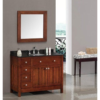 OVE Decors Adrian 42 Inch Single Sink Bathroom Vanity With Granite Top