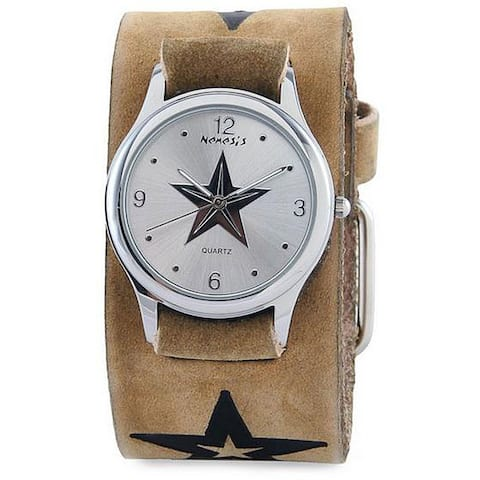 Nemesis Men's Vintage Brown Faded Star Watch