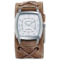 Nemesis Men's Signature Brown Leather Cuff Watch