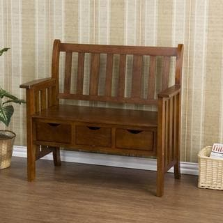 Harper Blvd Hillside Oak Country Storage Bench