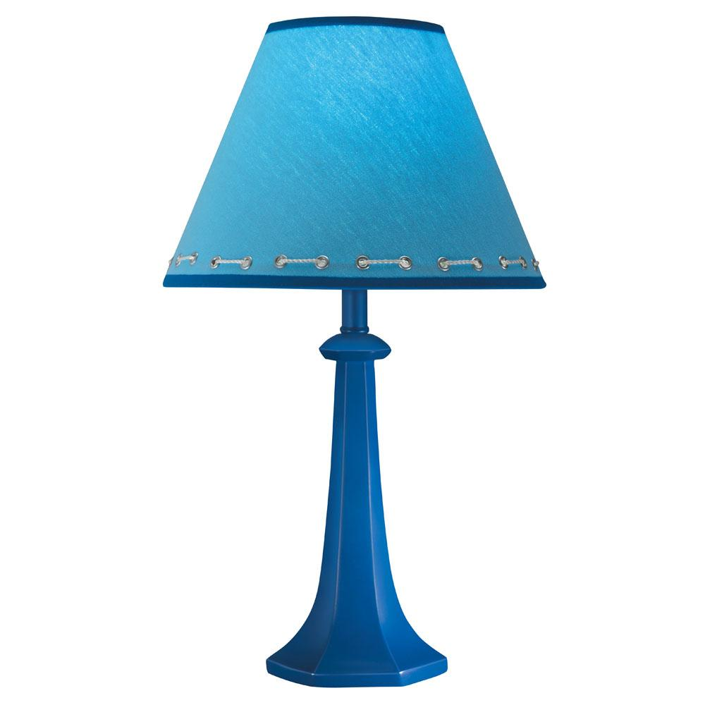 Merveilleux Hardback Shade Cobalt Blue Table Lamp