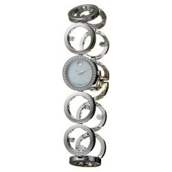 Movado Women's 'Ono' Stainless Steel Quartz Diamond Watch