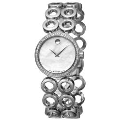 Movado Women's 'Ono Moda' Stainless Steel Quartz Diamond Watch