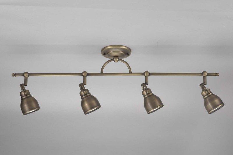 Shop Good Earth Lighting Metropolitan 3 Light Bronze: Bronze-finish 4-light Flush Rail Ceiling Fixture