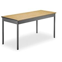 OFM Grey Steel/ Wood Utility 24x60-inch Table