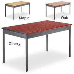 OFM Grey Steel/ Wood Utility 30x48-inch Table