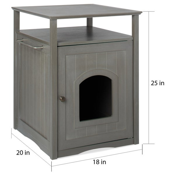 merry products furniture hidden cat litter box enclosure free shipping today
