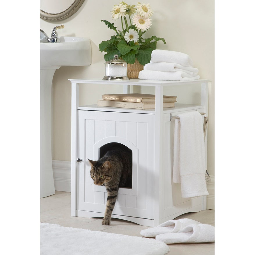 Merry Products Furniture Hidden Cat Litter Box Enclosure