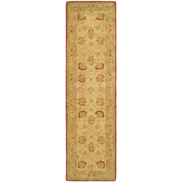 Safavieh Handmade Anatolia Oriental Oushak Ivory/ Grey Hand-spun Wool Runner (2'3 x 8')