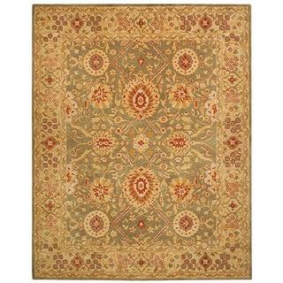 Safavieh Handmade Anatolia Oriental Sage Green/ Ivory Hand-spun Wool Rug (9'6 x 13'6)