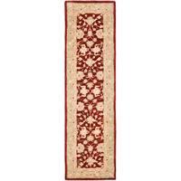 Safavieh Handmade Anatolia Oriental Red/ Green Hand-spun Wool Runner (2'3 x 14')