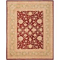 Safavieh Handmade Anatolia Oriental Red/ Green Hand-spun Wool Rug - 6' x 9'